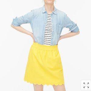 J. Crew Factory Scalloped Linen Skirt